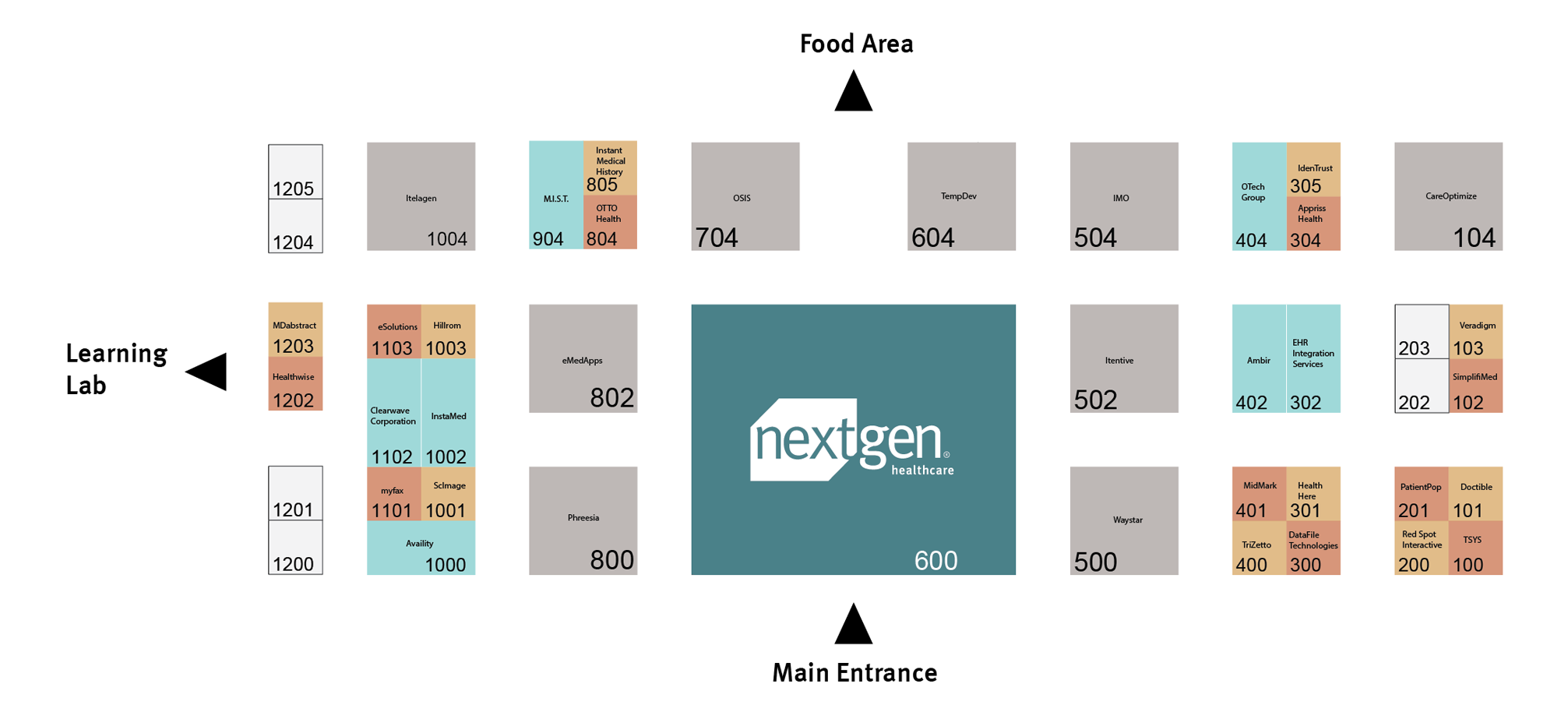 expo hall layout